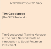 Introduction to SROI