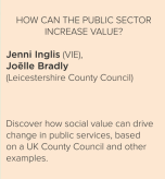 how can the public sector increase value