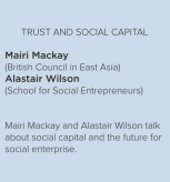trust and social capital